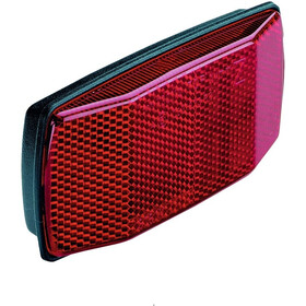 Busch + Müller Luggage Carrier Reflector 2 Bolts 80mm black/red